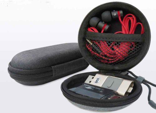 gray-color eva earphone cases